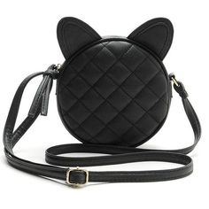 """Two Stupid Cats ~ Products ~ Elegant Leather Cat Shoulder Bag   Simple, elegant, with a pinch of punk rock and a handfull of 90's. This Leather Cat Bag is the main ingredient for You to complete Your CooL.  Material: Quality PU Leather Size: 16cm *16cm *6cm  /6.3"""" *6.3""""*2.4"""" (Aprrox) Color: Black Lightweight, portable and fashionable."""