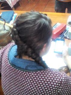 Twist side dutch braid.