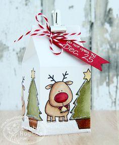 There She Goes Hohoho milk carton treat box - bjl