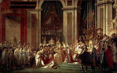 Jacques-Louis David, L'incoronazione di Napoleone, 21 dicembre 1805–novembre 1807, olio su tela, 6,2 x 9,8 m, Musée du Louvre di Parigi.