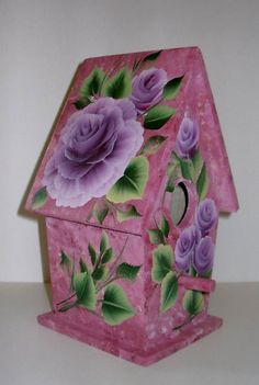 Image detail for -... birdhouse this birdhouse is made of wood hand painted and signed by