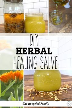 This easy, natural, herbal DIY healing salve recipe can be customized to fit many needs and used for just about everything! Speeds healing, reduces pain, wards off infection all while being natural and homemade. Cold Home Remedies, Natural Health Remedies, Herbal Remedies, Eczema Remedies, Herbs For Health, Health And Wellness, Salve Recipes, Medicinal Herbs
