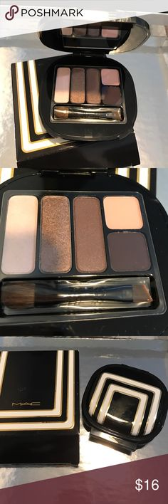 NEW MAC STROKE OF MIDNIGHT EYES/COOL EYESHADOW New MAC EYESHADOW 4g 0.14 US OZ new in box MAC Cosmetics Makeup Eyeshadow