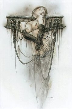 Luis Royo pin-up girl