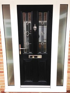 The popular Black Altmore Composite Door with White UPVC Side panels comprising of Rehau profile. The Glass design is the modern Ebony Diamond ... & upvc Front Doors | upvc Doors | Front Doors pvcu coloured for ...