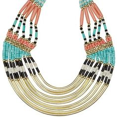 statement necklace with turquoise details