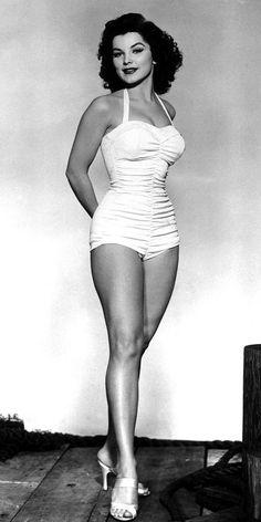 1950s legs of Debra Paget (Am. actress incl. in  Love Me Tender (Elvis' debut film; she's b. 1933 Aug19, worked till 1965) • http://en.wikipedia.org/wiki/Debra_Paget