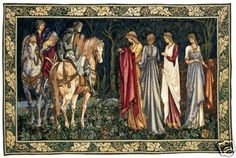 54x34 CAMELOT KNIGHTS Medieval Tapestry Wall Hanging on eBay!