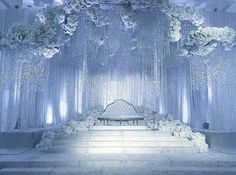 24 Gorgeous Wedding Stage Decoration Ideas & Themes That Will Leave You Speechless! 24 Gorgeous Wedding Stage Decoration Ideas & Themes That Will Leave You Speechless!This Wedding Season Let's Create Magic With Dazzling Winter Wedding Receptions, Wedding Mandap, Wedding Table, Wedding Ceremony, Star Wedding, Wedding Ideas, Wedding Venues, Indoor Wedding Decorations, Debut Decorations