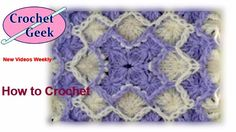 How to make Bavarian #Crochet #Blanket Part 1 Tutorial #CrochetGeek - Caron Yarn - YouTube