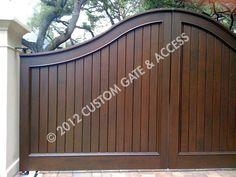 custom wooden driveway gate 106