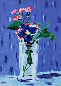 Flores no Vaso de Cristal