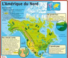 Fiche exposés : L'Amérique du Nord