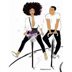 Sunday is also for lovers by nikisgroove Black Love Art, Black Girl Art, Black Is Beautiful, Black Girl Magic, Black Girls, Art Girl, African American Art, African Art, Natural Hair Art