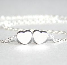 Silver Hearts Necklace Sterling Silver chain