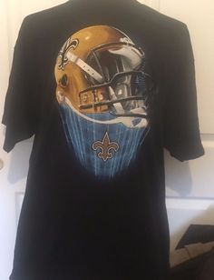 dd17c5d61 New Orleans Saints NFL Team Apparel T Shirt Mens Size XXL 2XL Black  NFL