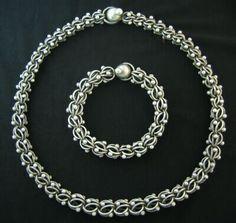 Vintage pineda Taxco Mexican Silver    AP039 Vintage Antonio Pineda 970 silver necklace and bracelet, circa ...