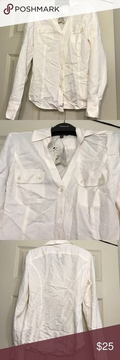 Express long sleeve button up shirt Brand new never worn. Just wrinkly from storage. Express Tops Button Down Shirts