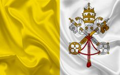 Download wallpapers flag of the Vatican, Vatican, Europe, Vatican flag, Rome, Italy