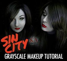 Sin City Grayscale Makeup Tutorial