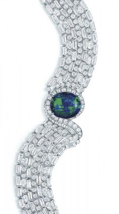 Tiffany & Co.' Opal and diamond bracelet