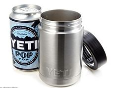 The YETI Rambler Colster uses food-grade 18/8 stainless steel, double-wall vacuum insulation and a ThermoLock™ Gasket to seal in the chill and keep your drink cold on a hot summer day.