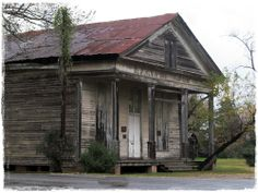 For such a tiny town, Keatchie, Louisiana had some gorgeous old buildings! This was a former Masonic Lodge...that has seen better days I am sure!