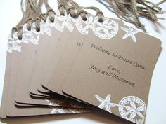 25 Wedding Favor Tags With Little Pearls