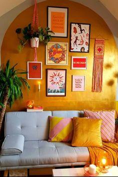 Home Living Room, Living Room Decor, Bedroom Decor, Casa Top, Indian Home Decor, Deco Design, Mellow Yellow, Home Decor Inspiration, House Colors