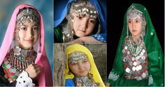 Haraza girls in traditional dress | Hazara people of South West Asia are a large ethnic community of South and Central Asia , who are living mainly in Afghanistan and Pakistan and in a few number in Iran.