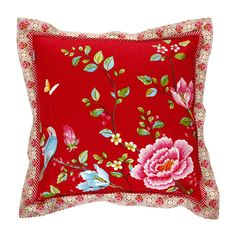 Morning Glory Red Cushion - 45 x 45cm from Pip Studio