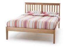 Wiltshire Oak Bed Frame Slatted Bedstead - 6' Super King Size Bed - Low Foot End
