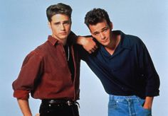 Topman Revisits + Men's Fashions for Spring/Summer 2015 Collection Beverly Hills 90210 Fashi 90210 Fashion, 80s Fashion Men, Fashion History, Women's Fashion, Beverly Hills 90210, 1990s Costume Ideas, Costumes, Brandon Walsh, Bae
