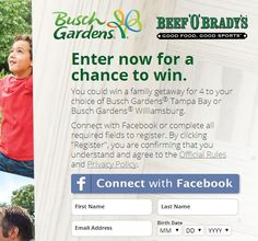 Busch Gardens Sweepstakes win a family vacation - Sweeps Maniac