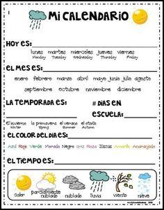 Calendario Diario español 1