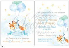 Προσκλητήριο βάπτισης για αγόρια με αλεπού, annassecret