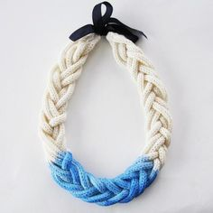 A Alicia Dip Dye Braided Necklace - Olive and Frank