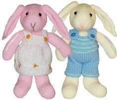Tutorial: pareja de conejitos tejidos en dos agujas o palitos!!