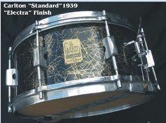 Carlton Standard snare drum in 'Electra' wrap - 1939