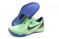 34fb251b6582 NIKE KOBE 8 SYSTEM ELITE Poison Green-Black-Hyper Blue Shoes