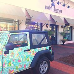 Lilly Pulitzer Jeep at Palm Avenue Raleigh