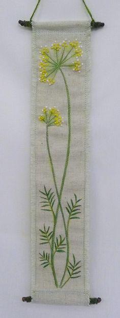 hanging no.3  needlework art Ⓒ Nagako Ono HAPPa_Ya #art #plants #hanging