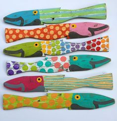 Sandpipers Painted Fence Fish for Sale - Cottage & Bungalow