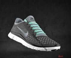 Cheapest Womens Nike Free 3.0 V4 Coffee Reflect Silver Iguana Tropical Blue Lace Shoes