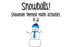 Snowballs product from Kreating-for-Kids on TeachersNotebook.com