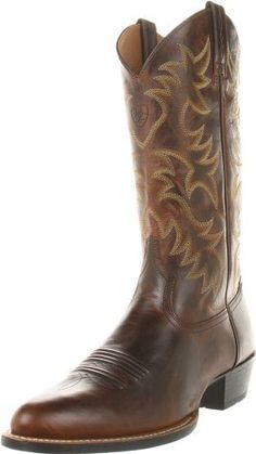 Ariat Men's Heritage Western R Toe Boot,Weatherd Chestnut,10 M US - http://authenticboots.com/ariat-mens-heritage-western-r-toe-bootweatherd-chestnut10-m-us/