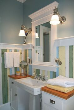1920 bathroom | Fun House: Redo of my 1920s bathroom quirky bathroom walls