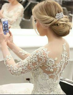 Wedding Dresses Lace Open Back .Wedding Dresses Lace Open Back Best Wedding Dresses, Bridal Dresses, Wedding Gowns, Bridesmaid Dresses, Wedding Lace, Wedding Bridesmaids, Lace Bridal, Bridal Hair, Lace Wedding Dress With Sleeves