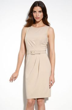 St. John Collection Marocain Crepe Sheath Dress