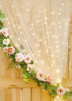 Warm White Wedding Curtain Lights - 147 Bulbs - 5.9 x 6' #weddingvenues #WeddingDecorations #WinterWeddingIdeas
